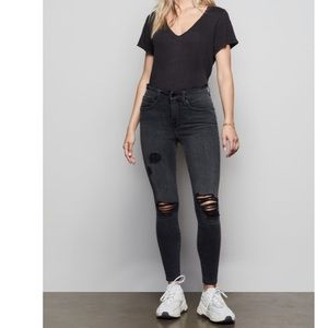 Good American Good Legs Distressed Jeans 25